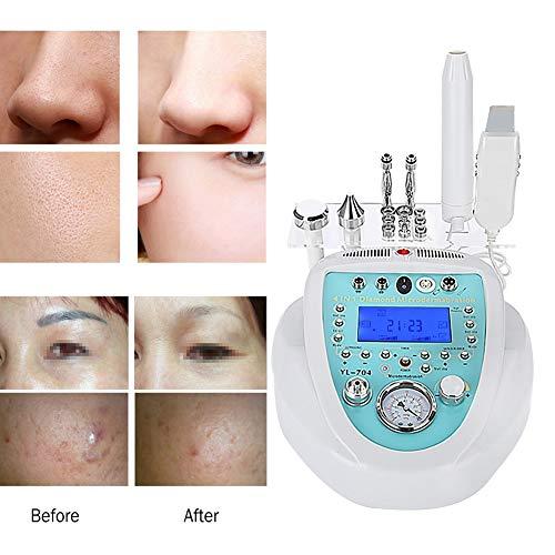 Máquina de Microdermoabrasión Diamante, Máquina de belleza facial en el hogar avanzada + depurador de la piel + electroterapéutico alta frecuencia para el removedor espinillas Facial instrumen