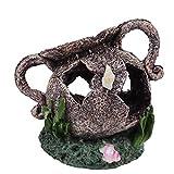 Yudanny Decoración de Acuario Ornamento de Material de Resina DIY para Pecera Excelente Cueva Oculta para Peces