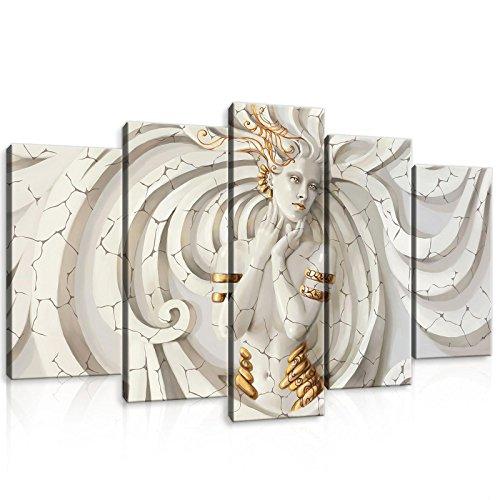 FORWALL Leinwandbild Wandbild Medusa Bild Canvas S17 (100x60 (1x60x20, 2x50x20, 2x40x20)) AMFPS10211S17