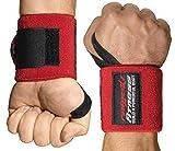 Handgelenkbandagen [2er Set] Starker Halt, 45cm Länge, (+ Trainingspläne) - Handgelenk Bandagen Fitness, Krafttraining, Bodybuilding, Crossfit & Calisthenics - Wrist Wraps für Frauen und Männer