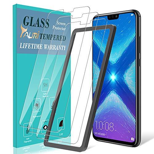 TAURI [3 Stück Schutzfolie für Huawei Honor 8X Panzerglas, Honor 8X Panzerglasfolie [Alignment Frame] [Einfache Installation] [9H Festigkeit] [Anti-Kratzen/Öl/Bläschen] HD Klar Glas Bildschirmschutzfolie