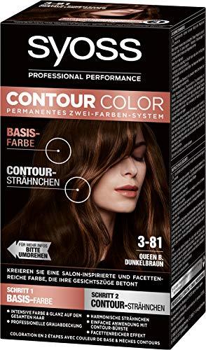 SYOSS Contour Color Stufe 3 3-81 Queen B.Dunkelbraun, permanentes Zwei-Farben-System, 1er Pack (1 x 183 ml)