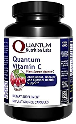 Quantum Vitamin C - 100% Plant-Based Vitamin C Capsules With C- Pro Blend - Targeted Immune Support and Optimal Overall Health* - Botanical Plant-Based, Vitamin C Supplement - 60 Plant-Based Capsules