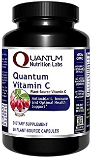 Quantum Vitamin C, 60 Vegetarian Capsules - Plant-Source Vitamin C Formula - Quantum Antioxidant, Immune and Optimal Healt...