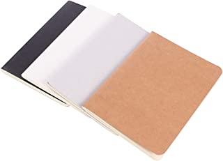 TOYANDONA 4pcs Kraft Paper Notebook Blank Journal Notebook for Travelers Students Office Writing Sketchbook Memo Diary Sub...