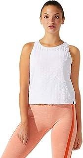 ملابس تدريب حريمي بدون أكمام بشعار مقصوص من ASICS مقاس XL، أبيض لامع