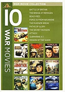 MGM 10 War Movies (Battle of Britain / Bridge at Remagen / Beach Red / Force 10 From Navarone / McKenzie Break / Paths of Glory / Secret Invasion '64 / Submarine X-1 / Attack! / Mission of the Shark)
