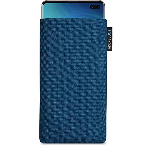 Adore June Classic Azul-Océano Funda Compatible con Samsung Galaxy S10 Plus / S10+, Material Resistente Efecto Limpiador de Pantalla