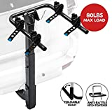 2-Bike Bicycle Hitch Mount Carrier Rack - Heavy Duty Bicycle Carrier Fit Most Sedans, Hatchbacks, Minivans, SUV (2 Inch Receiver)