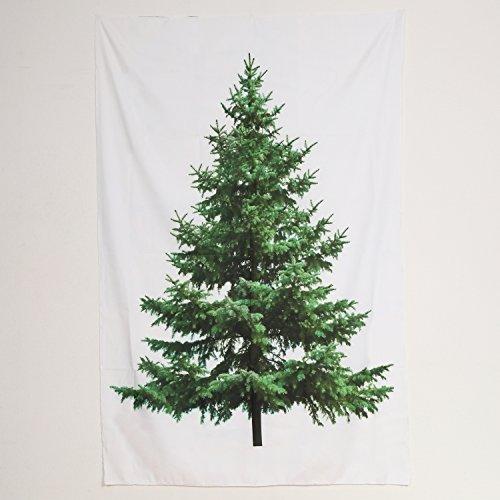 Rose クリスマスツリー タペストリー 飾り付け用ゴールド安全ピン付き 150cm×100cm
