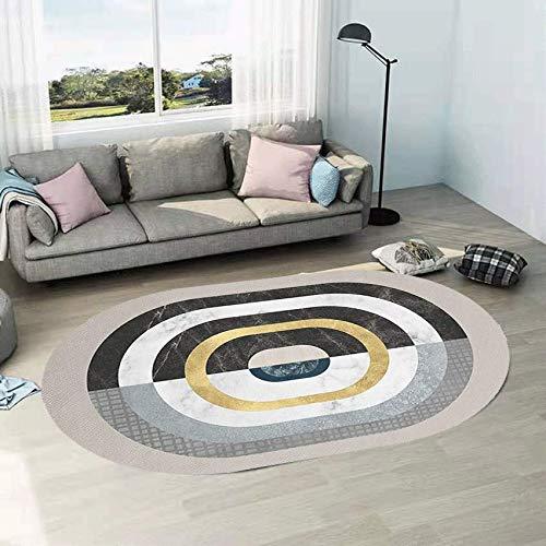 NF Alfombra grande, moderna simplicidad irregular ovalada, alfombra de salón, dormitorio, alfombra de área, lavable, antideslizante, pequeña decoración del hogar, 160 cm x 230 cm