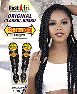 RastAfri Pre-Stretched Classic Jumbo Braiding Hair [3 PACK] (4)