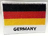 Fahnen Flagge Aufnäher Bügelbilder Patches für Jacken Kleidung Jeans Bekleidung Hosen Aufbügler Patches Aufnäher Applikation zum aufbügeln Deutschland 7 x 5,3 cm