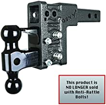 """GEN-Y Hitch Mega-Duty Dual Receiver Hitch: Raise or Drop up to 5"""" – 10,000 Pounds Capacity, 1500 Pounds Tongue Weight, Includes Versa-Ball Mount and Pintle Lock, GH-323"""