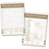 40 Baby Shower Game Cards Word Search and Word Scramble