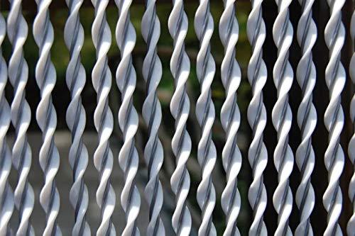 La Tenda Rideau de Porte en PVC Blanc Riva 100x230 cm