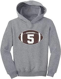 Tstars Gift for 5 Year Old Boy Football 5th Birthday Toddler Hoodie