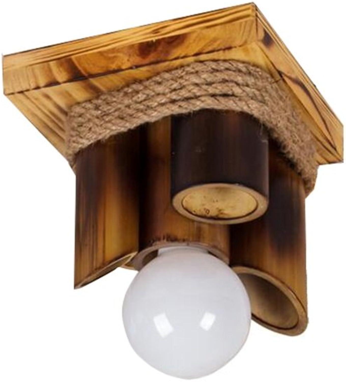 Retro Kreativ Restaurant Bambus Deckenleuchten, Bar Hngelampe Hanf Seil Beleuchtung Fixture, E27  1 ohne Lichtquelle, 20  25cm