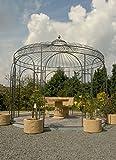 Gartenlaube, Garten Pavillon, Rosenpavillon, Pavillon Eisen, Pavillon Metall Rund Antwerpen Ø 350 cm (Eisenblank)