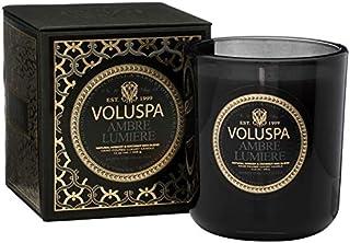 Voluspa Ambre Lumiere Classic Maison Boxed Glass Candle, 12 Ounces