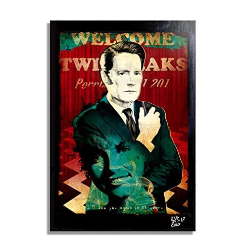 Arthole.it Dale Cooper da Twin Peaks 2017 (David Lynch) - Quadro Pop-Art Originale con Cornice, Dipinto, Stampa su Tela, Poster, Locandina, Horror