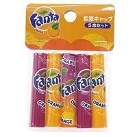 ファンタ[鉛筆]えんぴつキャップ5個セット/オレンジ&グレープ サカモト 文具 キャラクター グッズ 通販