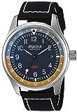 Alpina orologio da uomo, colore: Nero (modello: 'Startimer' svizzero al quarzo, in acciaio INOX e nylon casual al-247bbg4s6)
