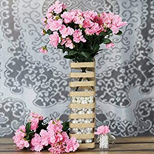 DN_HOM Wonderful 120 pcs Silk Gardenia Flowers for Wedding Centerpieces Arrangements Bouquets (Pink)
