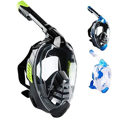 Khroom Masque intégral CO2 Safe Snorkel Mask 2019 - Masque de plongée Seaview X pour Adultes et...
