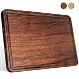 Large Walnut Wood Cutting Board for Kitchen 17x11 Cheese...