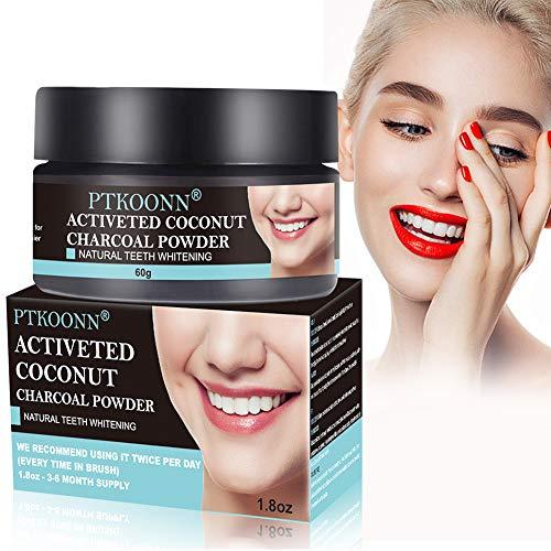 Aktivkohle Pulver,Bleaching Zähne,Activated Charcoal Powder Zahnaufhellung für Weiße Zähne,Bleaching Aktivkohle,Aufhellungsbehandlungen,Effektiv,Flecken entfernen