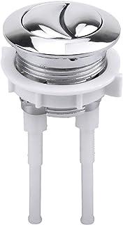 Fodlon Pulsador Doble para Cisterna WC Pulsador Cisterna Universal 38mm Botones de Presion de Plastic para Sanitarios WC Inodoro Botón de Tanque de Inodoro Plata