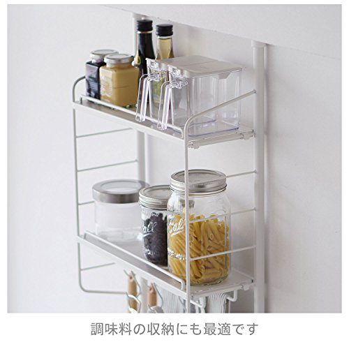 平安伸銅工業SPLUCE突っ張りキッチンラックスリムポールラックハンガーsetホワイトMサイズSPL-2