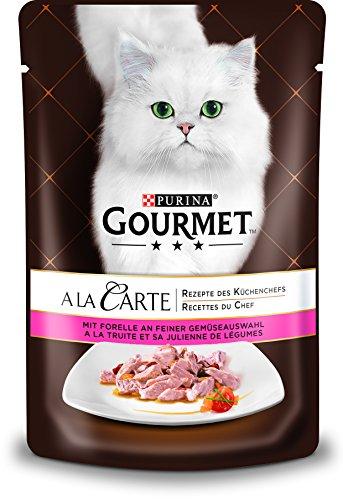 PURINA GOURMET A la Carte Katzenfutter nass, mit Forelle und Gemüse, 24er Pack (24 x 85g)