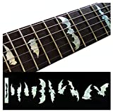 Fretboard Markers Inlay Stickers Decals for Guitars & Bass - Bat Wings - White Pearl