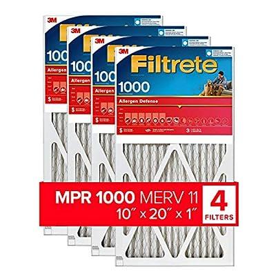Filtrete 12x24x1, AC Furnace Air Filter, MPR 1000, Micro Allergen Defense