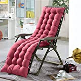 IsEasy Sun Lounger Cushions, Lounge Chair Cushion - Portable Garden Patio Thick Padded Bed Recliner Relaxer Chair Seat Cover for Travel Holiday Indoor Outdoor