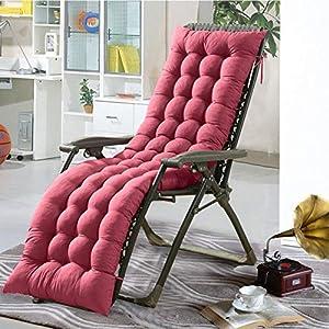 Cojín para silla de salón o tumbona reclinable, cojín con diseño de colchón para tumbonas en el patio, jardín, exteriores, galería, de Soddyenergy., rosso