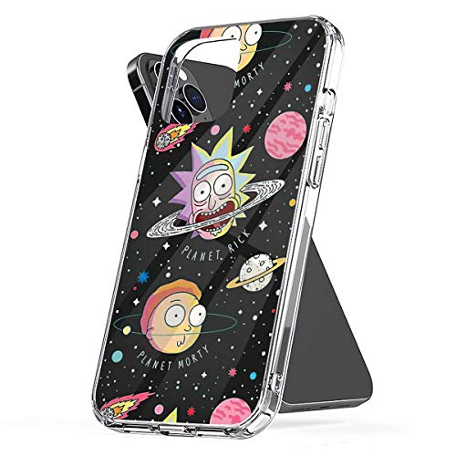 Phone Case Morty - and - Rick Planets Compatible with iPhone 6 6s 7 8 X XS XR 11 Pro Max SE 2020 Samsung Galaxy Accessories Tested