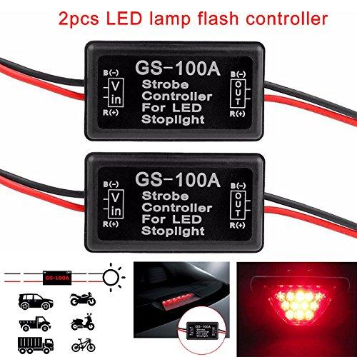 Rokoo 2 Teile/satz Auto Flash Strobe Controller Blinkmodul Smart LED Bremslicht Rücklicht