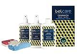 BELCARE - Kit de Limpieza (Limpiador, Abrillantador y Reparador) para Encimeras de Cocina y Baño de Cerámica Dekton y Neolith - Pack Completo para Tus encimeras