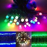 Gmasuber Luz de Navidad 50Pcs 12mm DC5V WS2811 a todo color IC impermeable LED Pixel Módulo Cuerda Luz - Azul