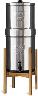 Countertop Stand for Berkey Water Filter - Stylish Adjustable Bamboo Berkey Stand of Berkey Water Filter System (Natural Bamboo)