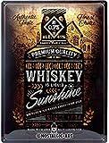 Nostalgic-Art Retro Blechschild Open Bar – Whiskey
