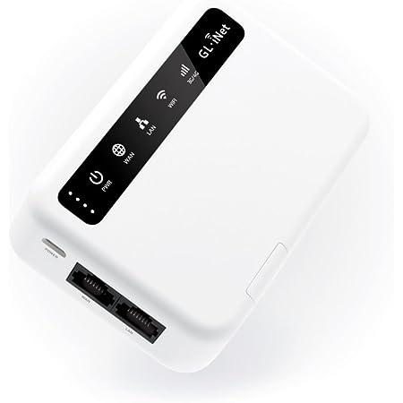 GL.iNet 4G LTE Router VPN Inteligente, Versión EMEA, OpenWrt, Batería 5000mAh, Cliente OpenVPN, Módulo EP06-E LTE, Router Programable