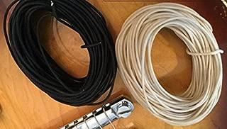Gavitt Push Back Cloth 22 AWG Guitar Wire - 100 Feet (50-white/50-black)