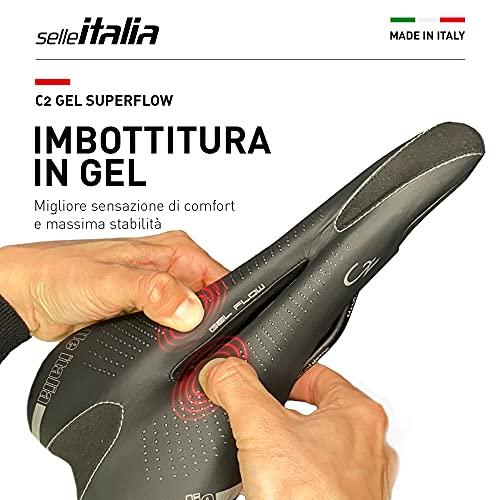 Selle Italia - Sella bicicletta da strada C2 Gel Flow