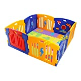 Mamakids Baby Playpen Kids 8 Panel Safety Play Center Yard Home Indoor Outdoor Pen Play Pen Children Activity