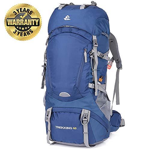 avis sac à dos randonnée 60l professionnel SKYSPER Sac à dos de randonnée 60L Grande poche avec trou pour boisson étanche…