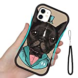 iPhone 11 TPU Case (2019) 6.1' French Bulldog in a Tuxedo Hand Drawn Vector Illustration Hipster Style